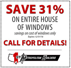 1st Metropolitan Home Improvement - Windows Coupon